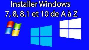 Installer Windows de A à Z